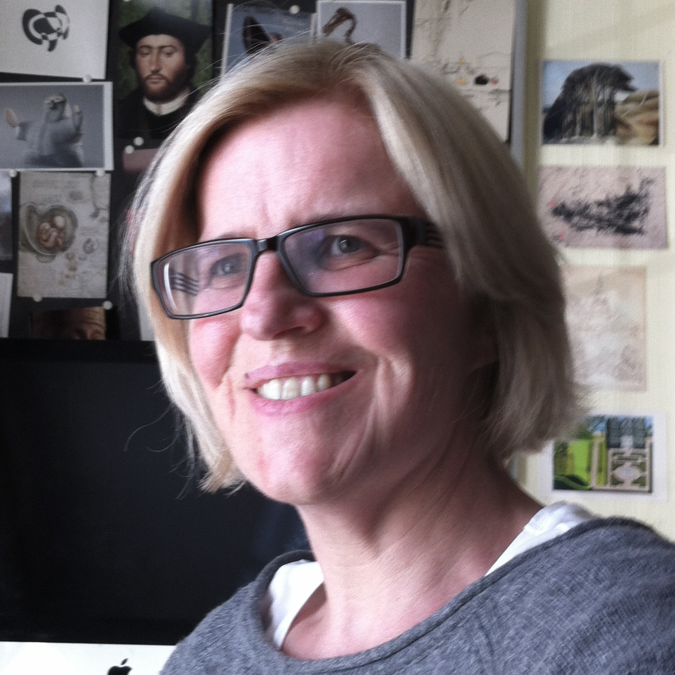 Portrait photo of Gill Brown in her workspace